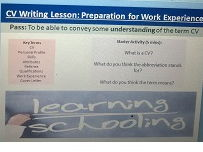 CV writing lesson Power Point