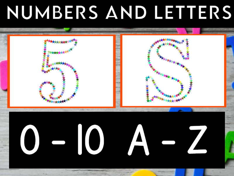 EYFS Number and Letter Flashcards
