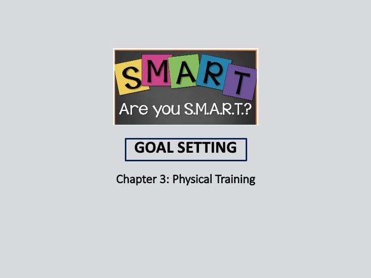 GCSE 9-1 PE - Goal Setting lesson