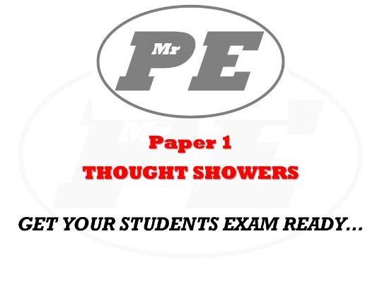 THOUGHT SHOWERS Paper 1