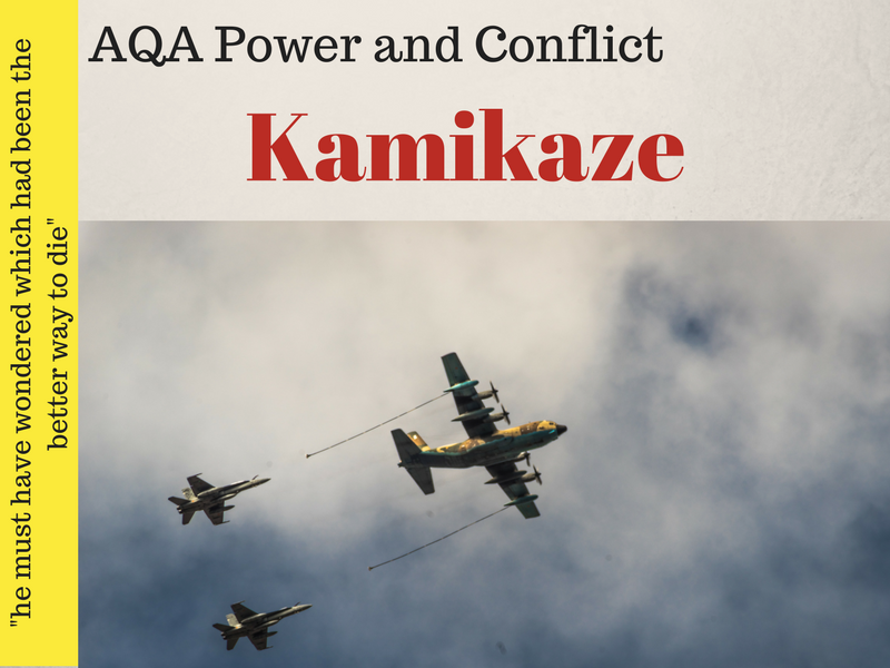 Kamikaze - Power and Conflict Poetry - War Poems Lesson 16 & 17