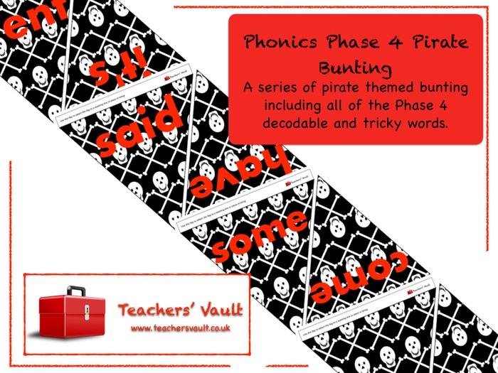 Phonics Phase 4 Pirate Bunting