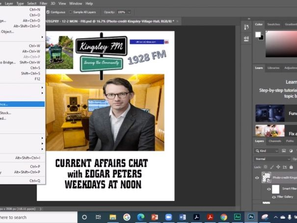 Make a poster for a Radio Station - NEA Media Studies - Brief 3 - Tutorial 3 - THE WHOLE POSTER