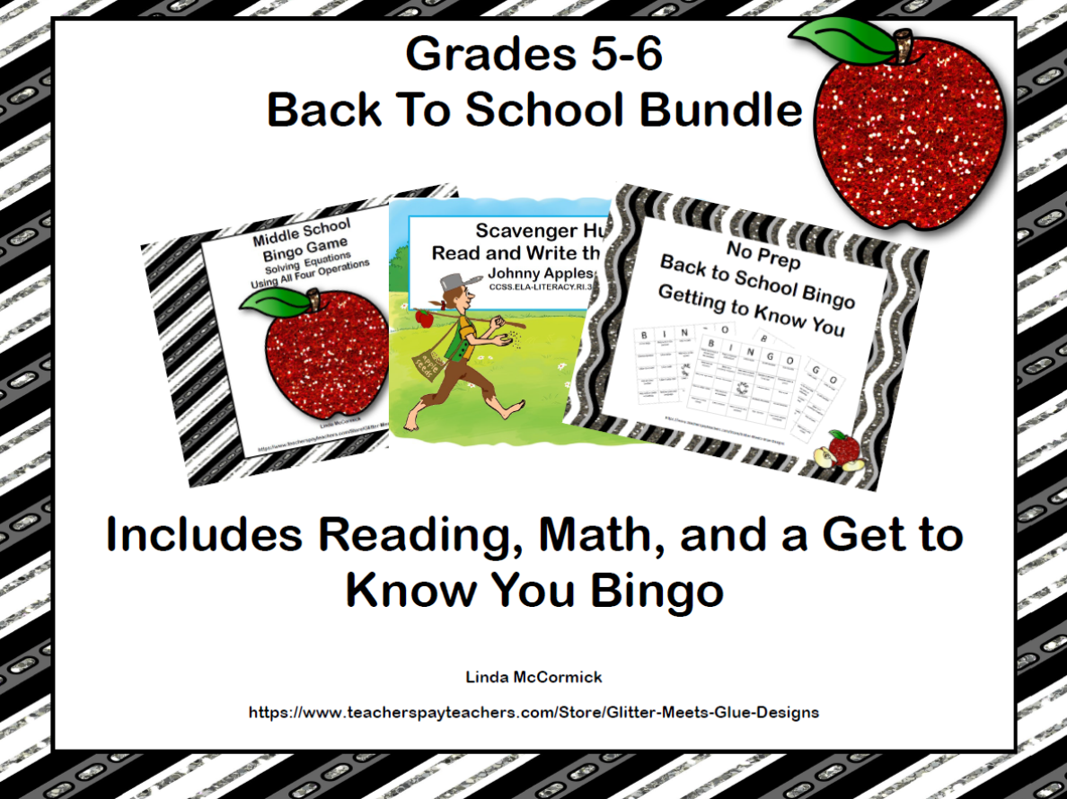 Back to School Bundle Grades 5-6