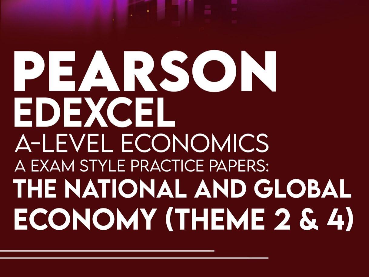 Edexcel Economics A Level : The National and Global Economy Bundle