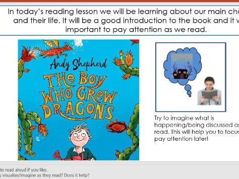 Year 4/3 - Whole Class Reading Unit - The Boy Who Grew Dragons