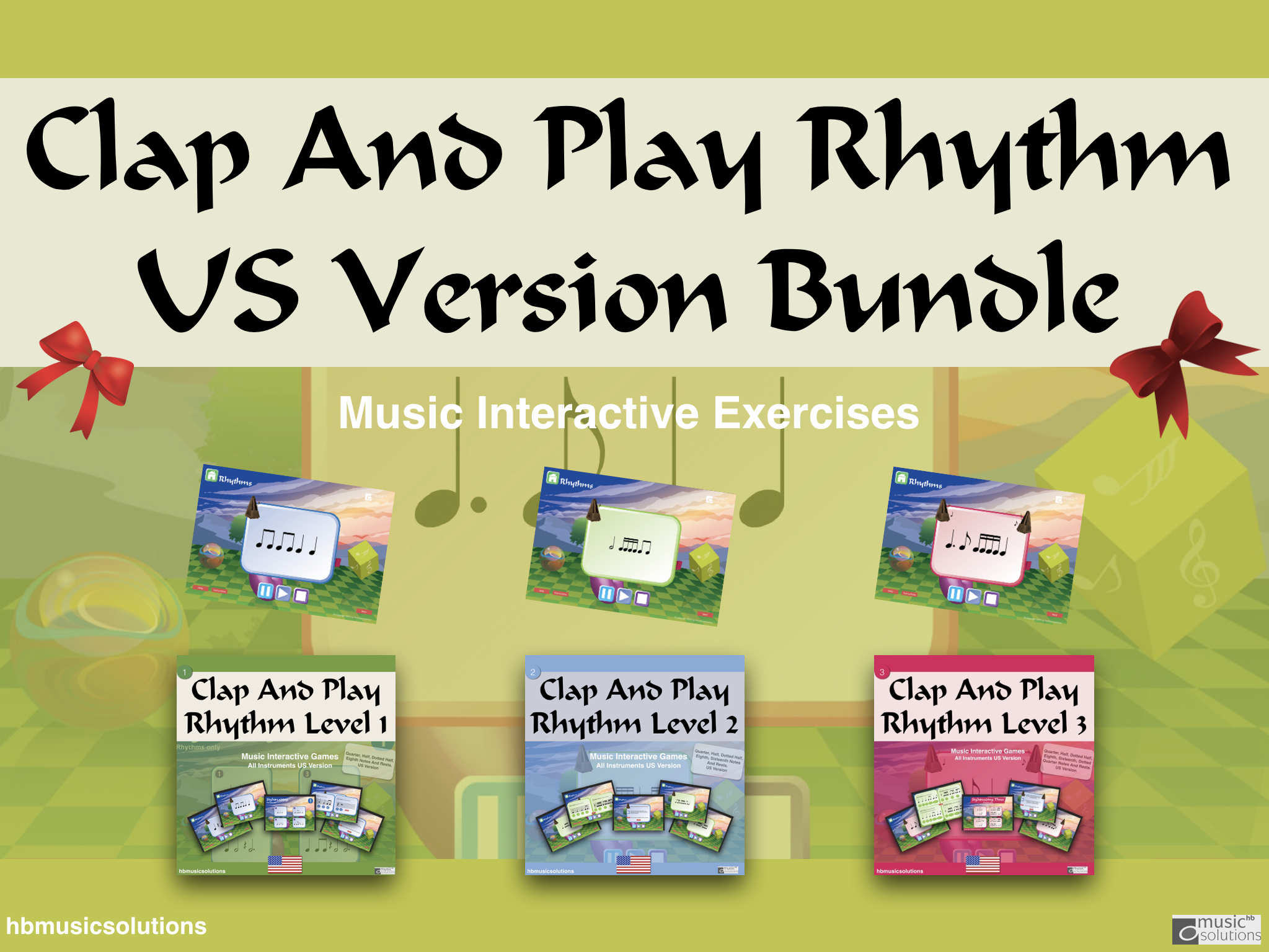 Clap And Play Rhythms Levels 1-3 US Version Bundle