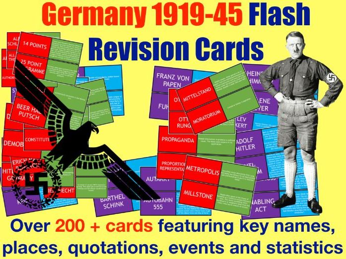 Germany 1919-45 Revision Flash Cards (200+ cards)