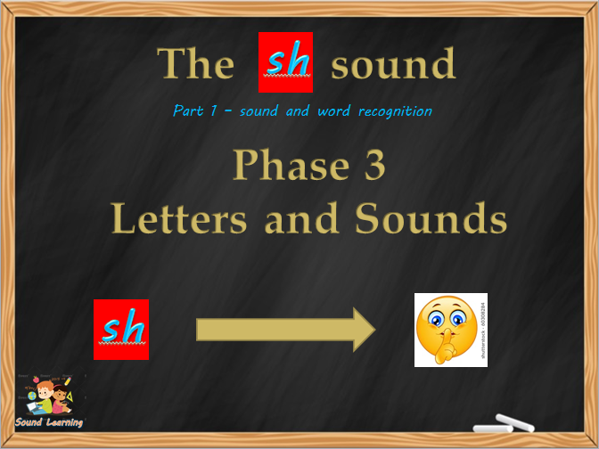 SH sound, read and write SH in words and sentences