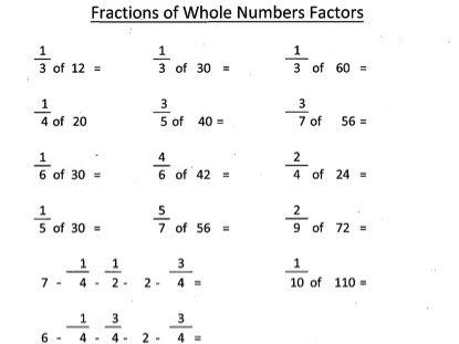 KS2  Fractions