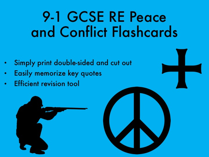 9-1 GCSE RE Peace and Conflict Flashcards