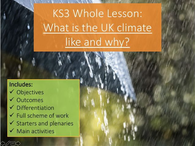 KS3 UK Climate - What and Why - Whole Lesson