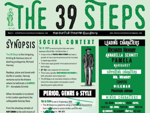 The 39 Steps Poster A0 pd