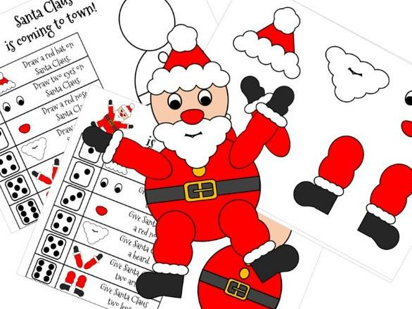 Roll a Santa Christmas Dice Game - Number Recognition for Early Years
