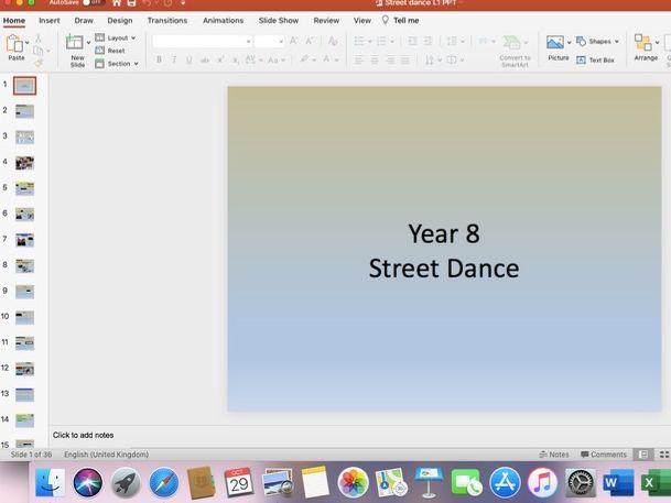 KS3 Street Dance SOW Dance