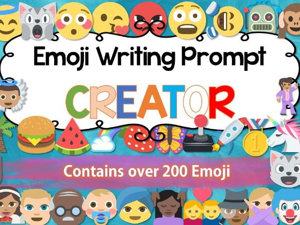 emoji writing bundle by innovativeteachingideas