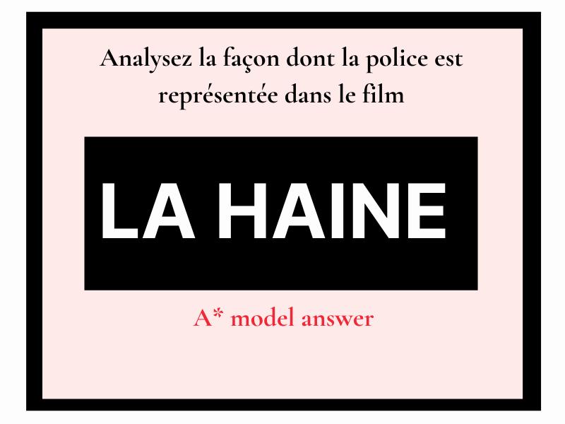 La Haine représentation de la police (essay question) French A level