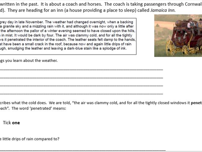Differentiated Jamaica Inn Exam Paper