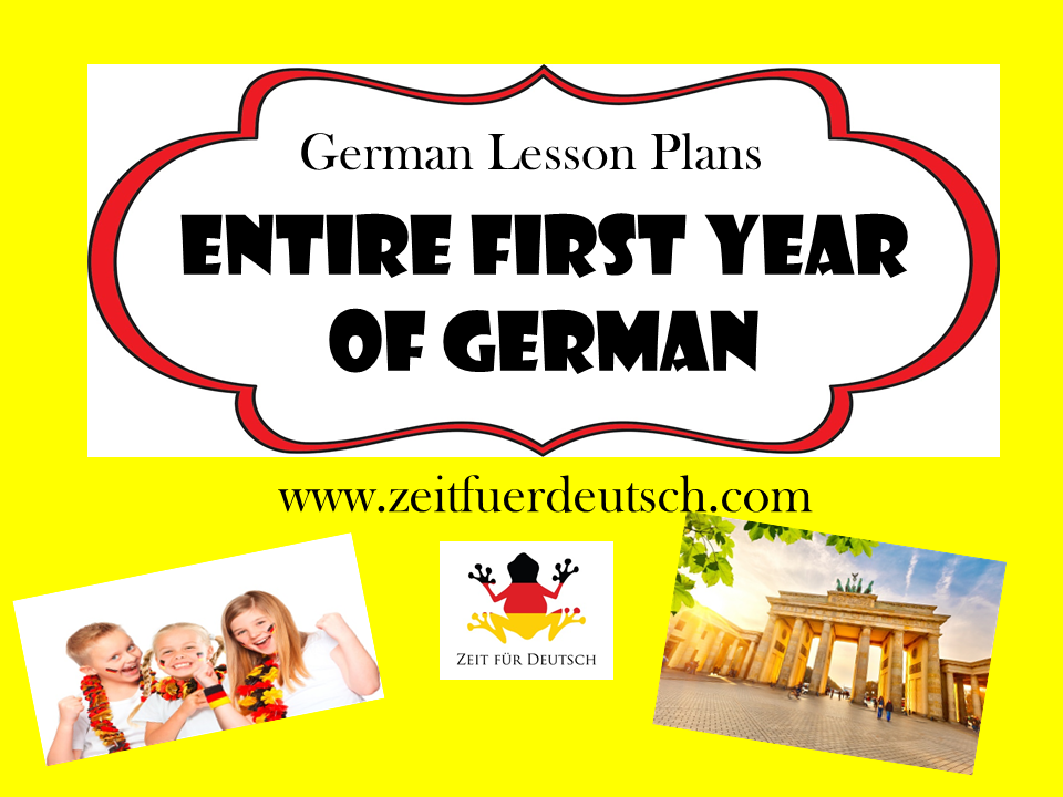 Entire First Year of German. 1266 pages of powerpoints, lesson plans, resouces and ideas