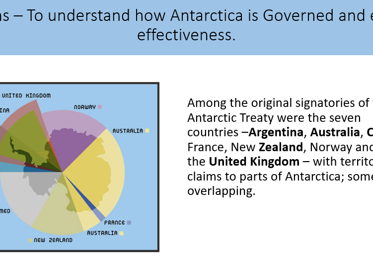 AQA A Level Geography Global Systems Topic - Governance of Antarctica