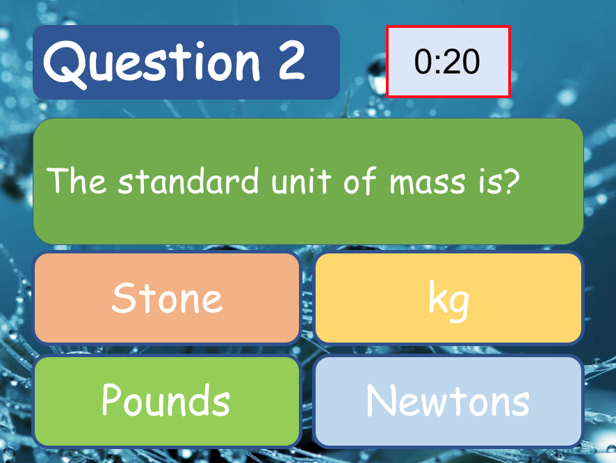 Science Quiz Template (Sample Questions, Auto Timed, Easy to Change)