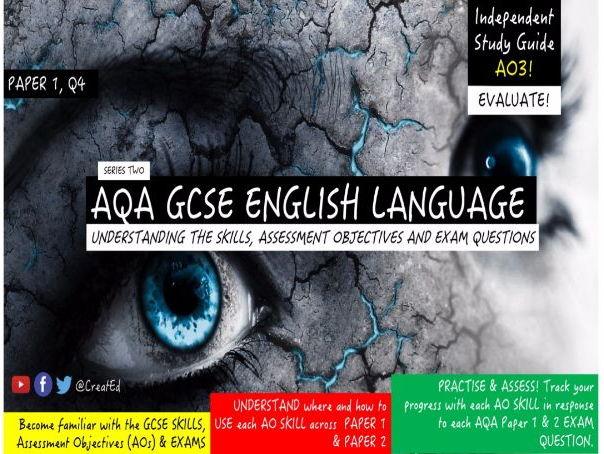 Pupil Revision Guide, NEW AQA GCSE English Language, AO4 EVALUATE (ebook)