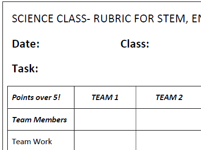 STEM BUNDLE- Everything needed for STEM activities- Record Papers and Rubrics
