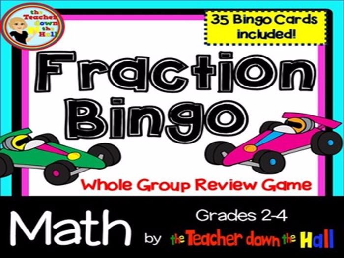 Fractions Bingo - Identifying Fractions