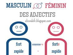 Feminine gender of adjectives in French (formes féminines des adjectifs)