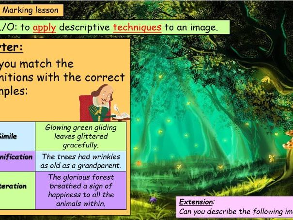 Descriptive Writing - In the Forest!