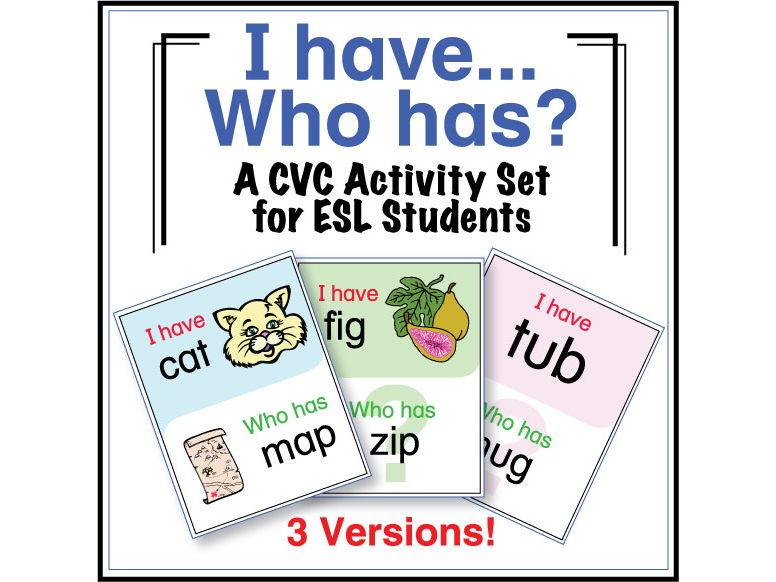 ESL Games - CVC I Have Who Has Activity Set
