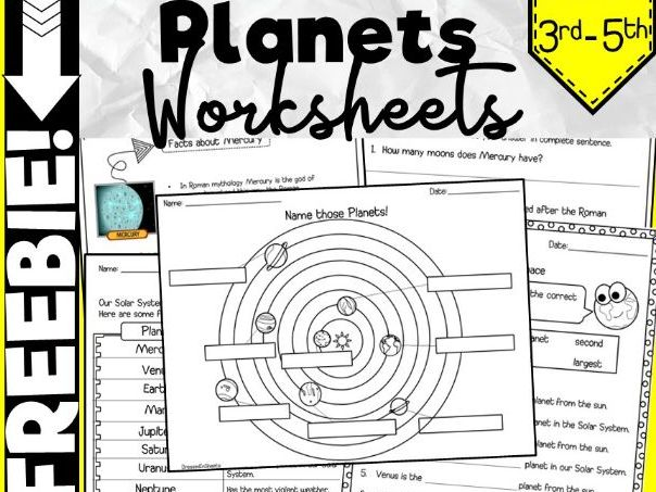 FREEBIE - Planets Worksheets