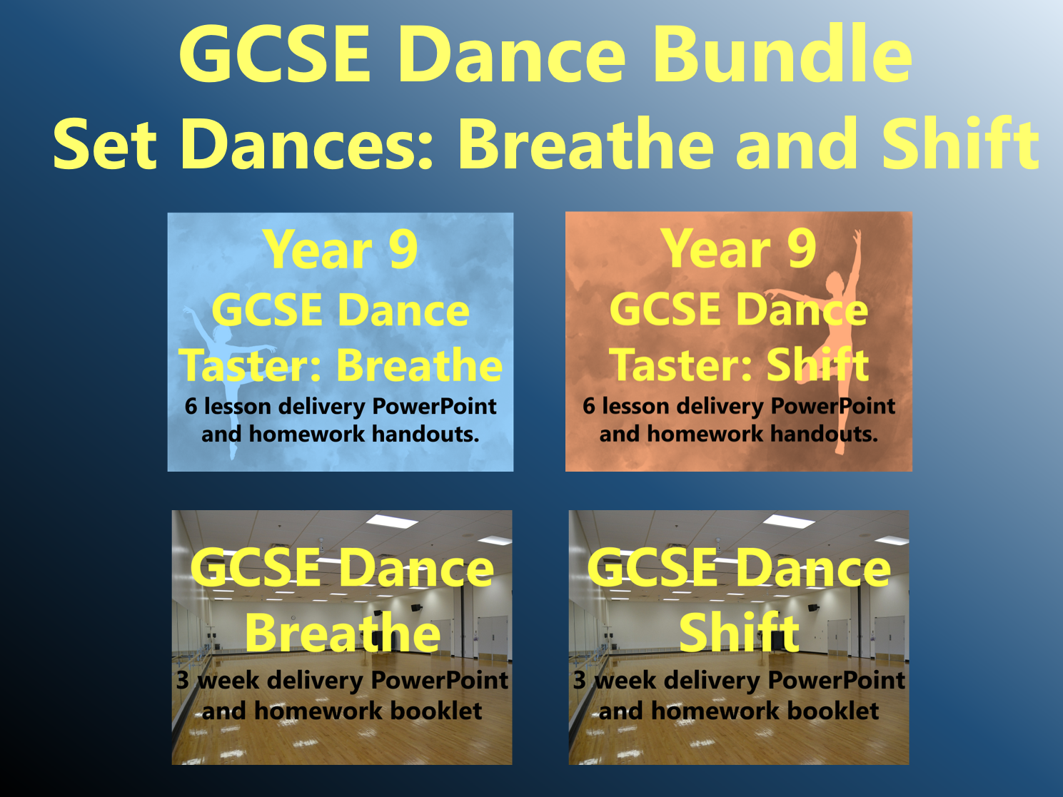 GCSE Dance Bundle - Set Dances: Breathe and Shift