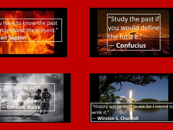 History Posters- Its important because..........