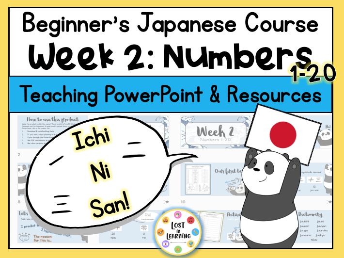 Japanese for Beginners || Week 2 of 10 || Numbers 0-20