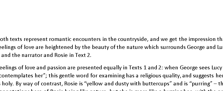 OCR Language Paper 2 - exemplar exam paper with model answer for Q4; Cider with Rosie and A Room wit