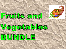 Frutas e Legumes (Fruits and Vegetables in Portuguese) Bundle