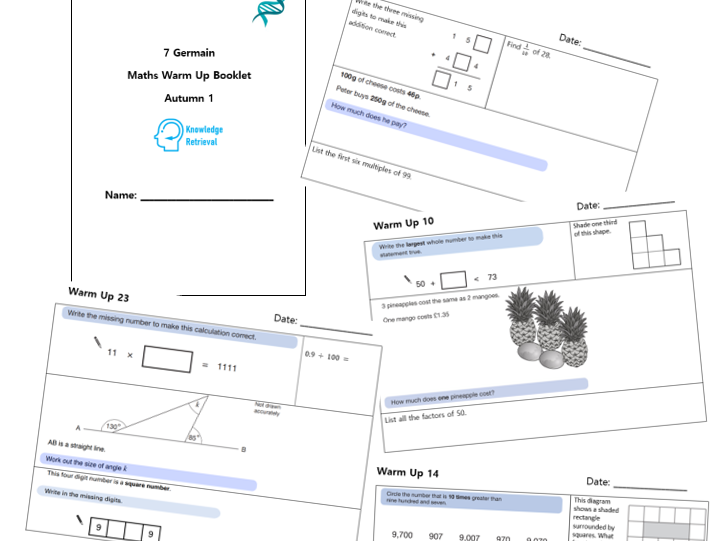 Year 7 Warm Up Booklet