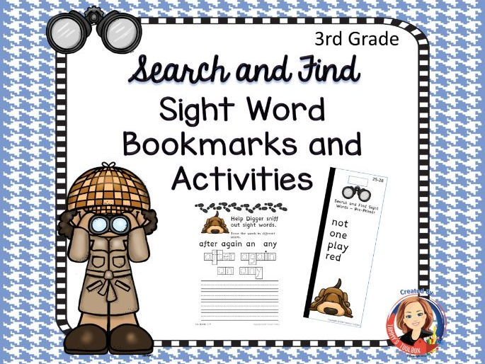 Sight Word Activities and Bookmarks, 3rd Grade Words