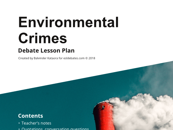 Environmental Crime - Complete Debate Pack