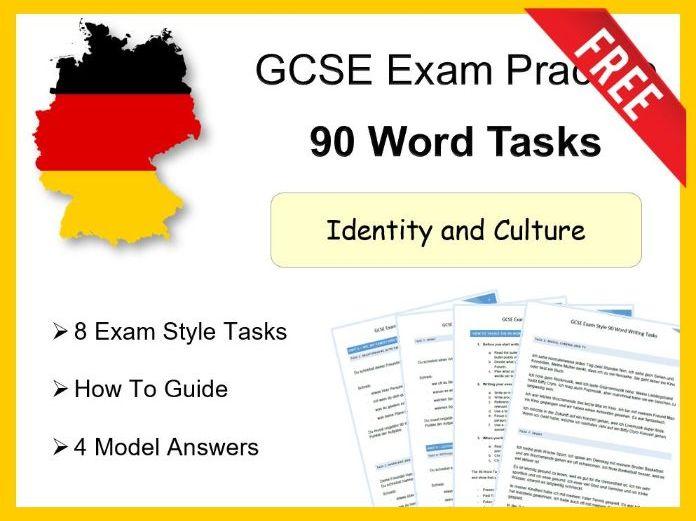 German GCSE 90 Word Tasks - Theme 1 - Guidance, Tasks and Model answers