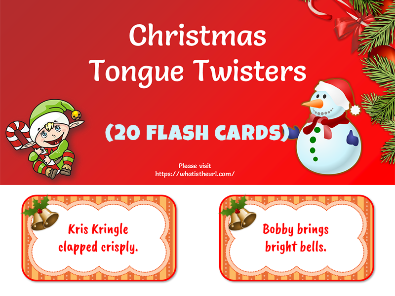 Christmas Tongue Twisters in PPT