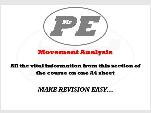 KEY INFO SHEET Movement Analysis