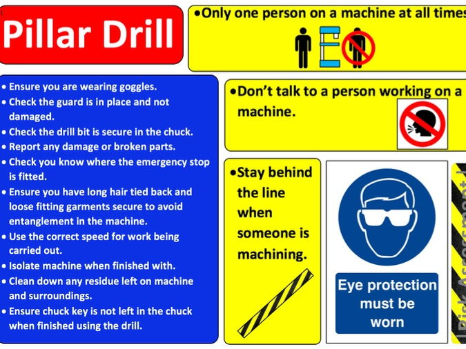 Health and Safety Posters for Workshop Machines