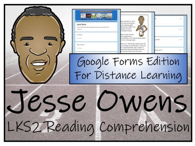 LKS2 Jesse Owens Reading Comprehension & Distance Learning Activity
