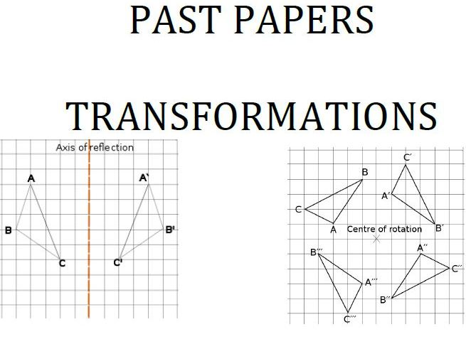 Cambridge Lower Secondary Checkpoint Topical Classified Past Papers-Mathematics-Transformations