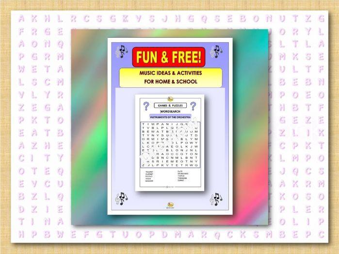 Fun & Free - WORDSEARCH-ORCHESTRA (Covid 19)
