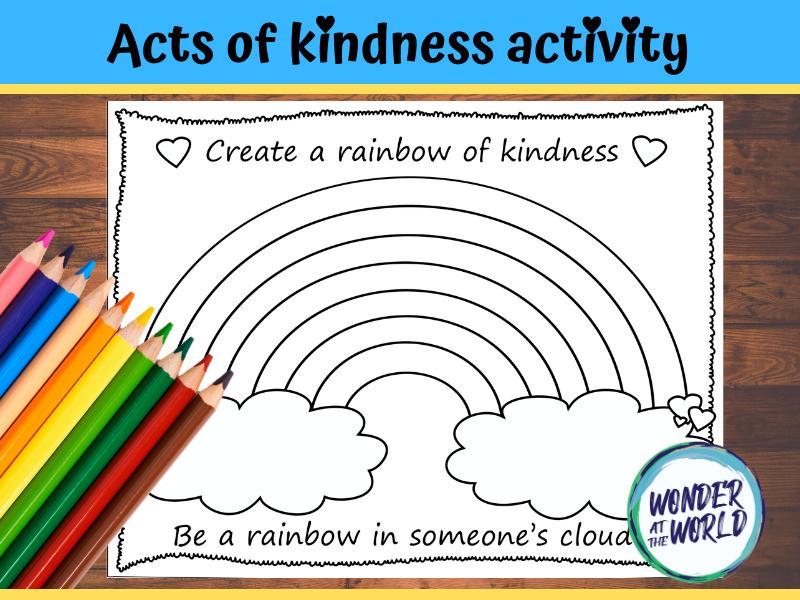 Create a rainbow of kindness