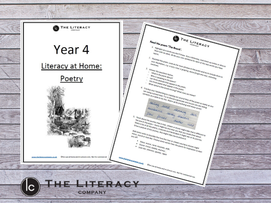 Year 4 - Literacy Learning from Home: Poetry