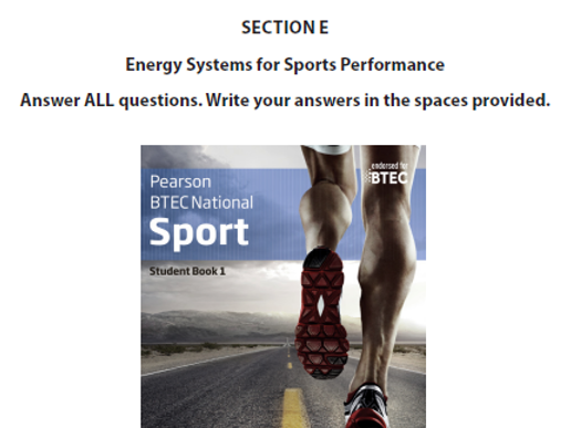 BTEC Sport Energy System Lesson 2